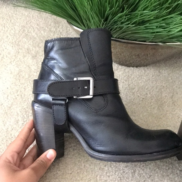 c6a98e4ad7 All Saints Shoes | Allsaints Black Jules Heels Leather Boots Size 41 ...